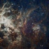 Stjärnanebulosa i utrymme Fotografering för Bildbyråer
