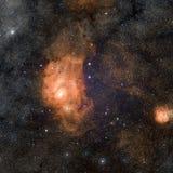 Stjärnanebulosa i utrymme Arkivbild