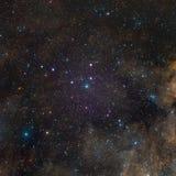 Stjärnanebulosa i utrymme Arkivbilder