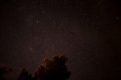 Stjärnapåfyllning natthimlen royaltyfri bild