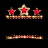 Stjärnaskenbakgrund royaltyfri illustrationer