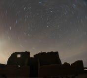 Stjärnaslingor över fortet Churchill, Nevada Royaltyfria Foton
