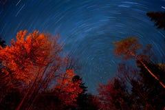 stjärnaspår Arkivfoto