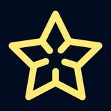 Stjärnasymbol, översiktsstil royaltyfri illustrationer