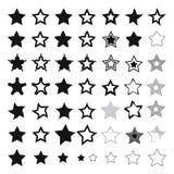 Stjärnasymboler Arkivbild