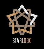 Stjärnasymbolslogo också vektor för coreldrawillustration Royaltyfri Illustrationer