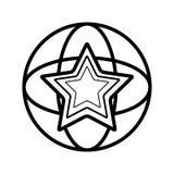 Stjärnasymbolsvektor stock illustrationer