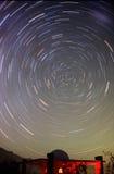 stjärnatrails Fotografering för Bildbyråer