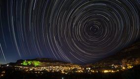 Stjärnatrails Arkivfoto