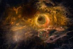 Stjärnautrymme med den brännheta nebulosan som hög res-bakgrund Arkivbilder