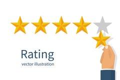Stjärnavärderingsvektor vektor illustrationer