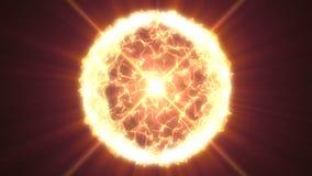 Stjärnayttersida med solfacklor vetenskaplig abstrakt bakgrund I stånd till att kretsa stock video