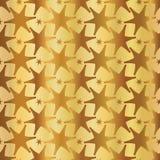 Stjärnklar över hela sömlös vektormodell för Luxe guld vektor illustrationer