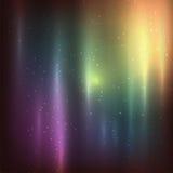 Stjärnklar bakgrund av stjärnor och nebulas in djupt Arkivbilder