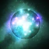 Stjärnklar bakgrund, rik stjärna som bildar nebulosan Arkivfoton