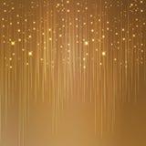 Stjärnklar guld- bakgrund Arkivfoto