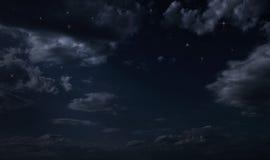 Stjärnklar himmel för natt Fotografering för Bildbyråer