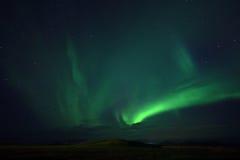 Stjärnklar himmel med morgonrodnad Royaltyfri Fotografi