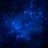 Stjärnklar himmel, utrymmebakgrund Arkivfoto