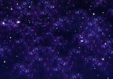 Stjärnklar himmel, utrymmebakgrund Arkivfoton