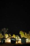 Stjärnklar natt Arkivbild