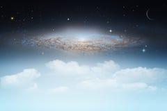 Stjärnklar natt abstrakta naturliga bakgrunder arkivfoton