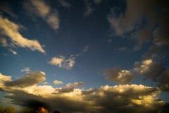 Stjärnklar natt i Death Valley Royaltyfri Bild