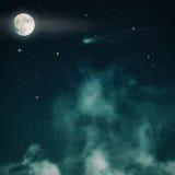 Stjärnklar natt spöklik natt Royaltyfri Fotografi