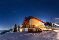 Stjärnklar panorama Fotografering för Bildbyråer