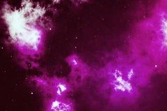 Stjärnklar yttre rymdbakgrundstextur med nebulosan Färgrik bakgrund för yttre rymd för himmel för stjärnklar natt framförande 3d Arkivbild