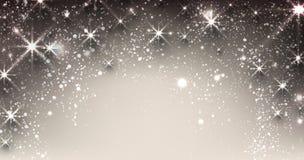 Stjärnklart julbaner för vinter Fotografering för Bildbyråer