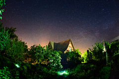 Stjärnljusnatt Fotografering för Bildbyråer