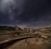 Stjärnor över öknen Arkivbild