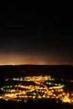 Stjärnor över en liten stad 1 Royaltyfri Fotografi
