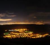 Stjärnor över en liten stad 3 Arkivfoton