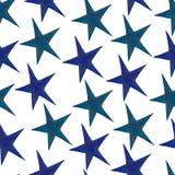 Stjärnor - en uppsättning av hand-drog vattenfärgstjärnor som isoleras på vit stock illustrationer