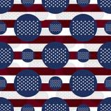 Stjärnor för Amerika flagga 50 sjunker den sömlösa modellen Royaltyfri Foto