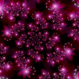 stjärnor för avstånd för abstrakt bakgrundsfractal magentafärgade rosa Royaltyfria Foton