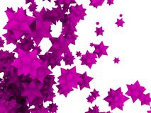 stjärnor för blomma 3d stock illustrationer