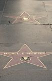 stjärnor för celine dionmichelle pfeiffer s Royaltyfri Foto