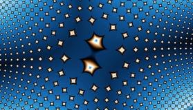 stjärnor för fält fractal12u2 Arkivbild
