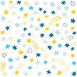 Stjärnor för gul marin för blåa grå färger för guld smutsiga små Royaltyfria Foton