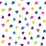 Stjärnor för handattraktionmultycolor Garnering f?r ber?m, f?r falla f?r konfettier abstrakt f?r ?rsdag eller h?ndelse, festivald royaltyfri illustrationer