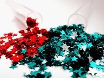 Stjärnor för handgjord jul Arkivbild