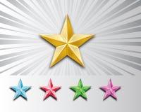 stjärnor för metall 3d Royaltyfri Fotografi