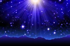 stjärnor för nattsky royaltyfri illustrationer