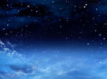 stjärnor för nattsky Arkivfoto