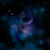 stjärnor för nattsky vektor Royaltyfri Fotografi