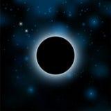 stjärnor för nattsky vektor sol- illustration för förmörkelse för bakgrundsblackdesign vektor illustrationer