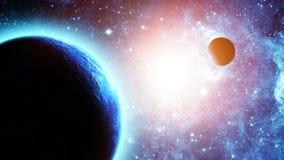 stjärnor för planet för bakgrundsjord fulla Royaltyfri Fotografi